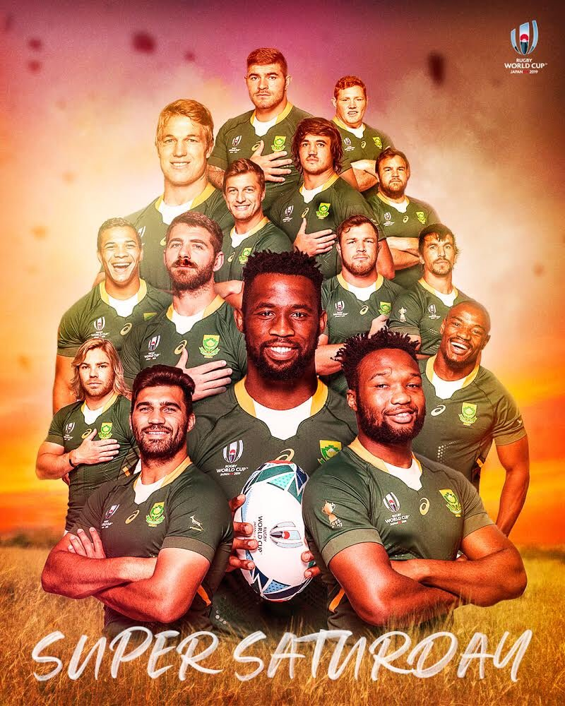 test Twitter Media - We're in for a #SuperSaturday tomorrow at #RWC2019! 🙌  Who wins between #NZLvRSA? 🤔 https://t.co/gP6LnzlBl9
