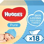 Image for the Tweet beginning: Huggies Pure Baby Wipes, 18