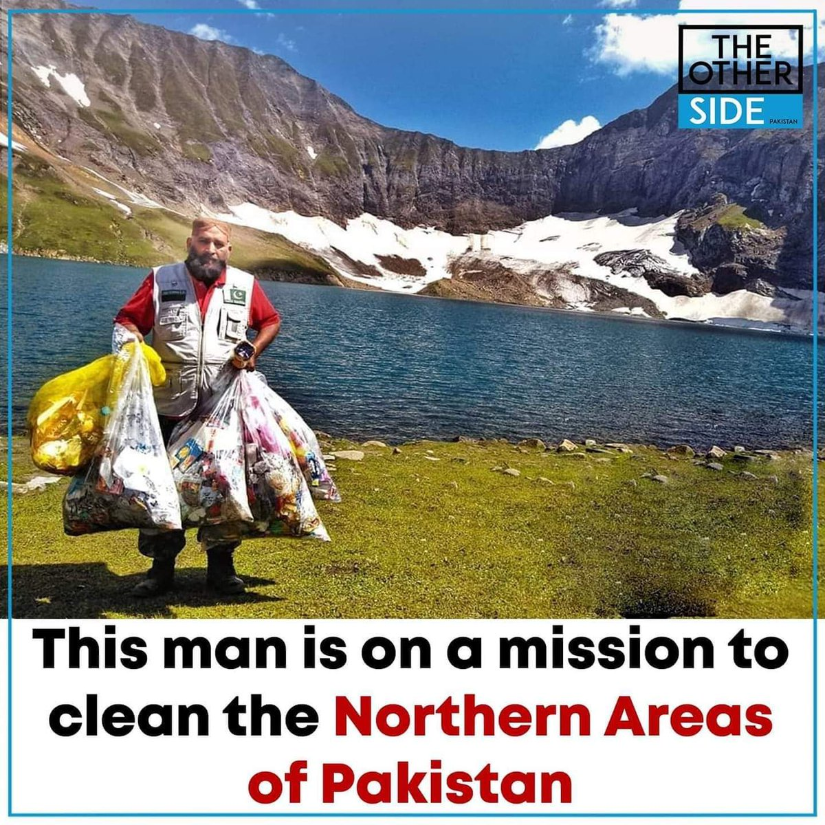 Saifullah Kashmiri is a 42 year old motorcyclist who is touring from Khunjerab to Gawadar, cleaning up the areas as much as he can along the way! He is a role model for us all. Keep your Pakistan clean !#theotherside #pakistan #saifullah #cleanshaven #ClimateAction