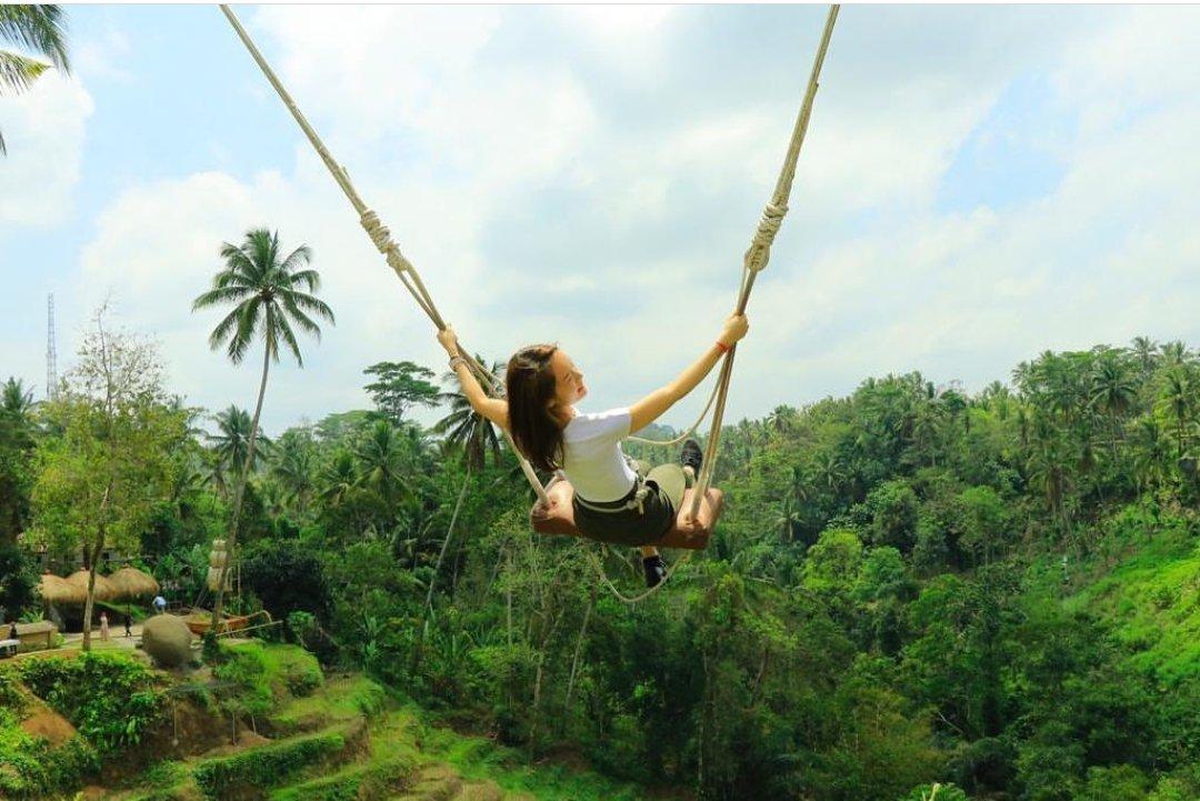 Jungle swing in ubud🌴#bali #travel #guide #driver #vacation #travelgram #explore #holiday #travels #traveler #traveller #traveling #travelling #travelphotography #travelingram #travelblog #travelblogger #traveladdict #exploretocreate #passionpassport #tourism #mytravelgram