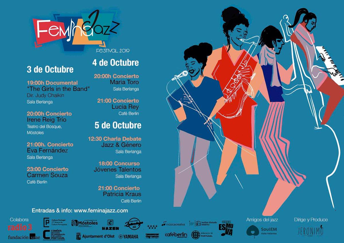 @minervacoaching Invitamos a disfrutar de excelente #jazz en la bella #Madrid!!!Entradas disponibles!!!https://feminajazz.com/Conciertos/@JazzFemina #FeminaJazz #FeminaJazzFest #festivalesdejazz #España #música #feminismo #arte #cultura #creatividad