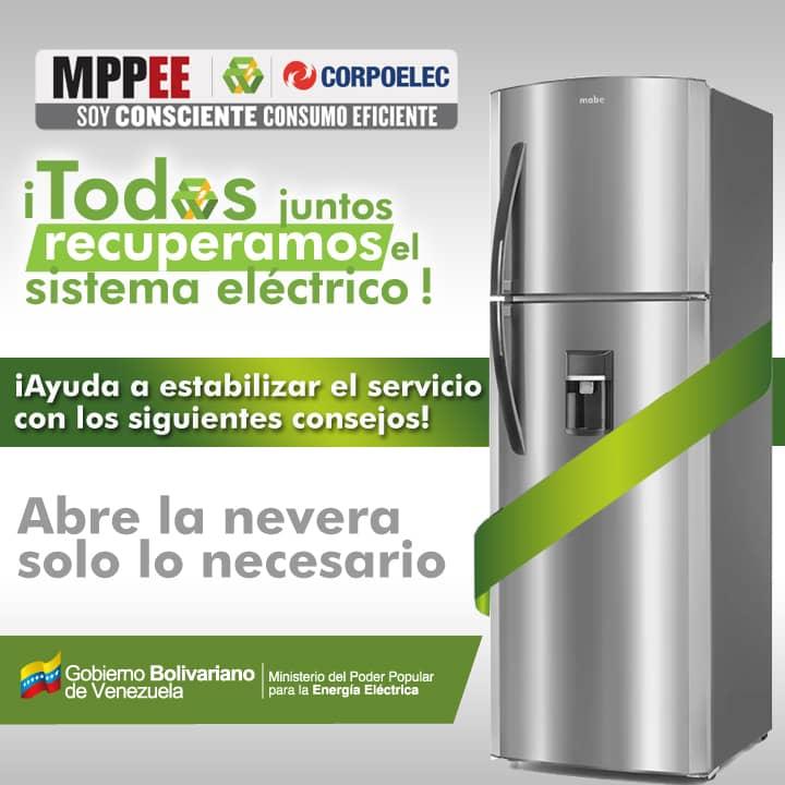 La @CMEMoMaturin se suma a la campaña de ahorro energético impulsada en #Venezuela Abre la nevera solo cuando sea necesario  @CGRVenezuela @ElvisAmoroso  #SoyConscienteConsumoEficiente @CEMonagas01