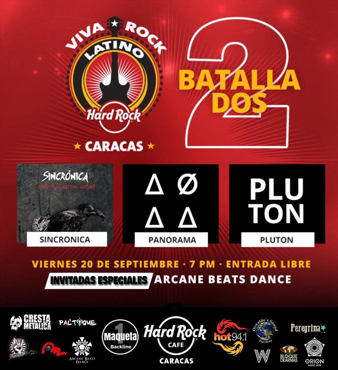 #AgendaCresta | #20Sep | Batalla de Bandas 2: Viva Rock Latino 2019 en el Hard Rock Cafe #Caracas > http://tinyurl.com/y28n247n #Venezuela