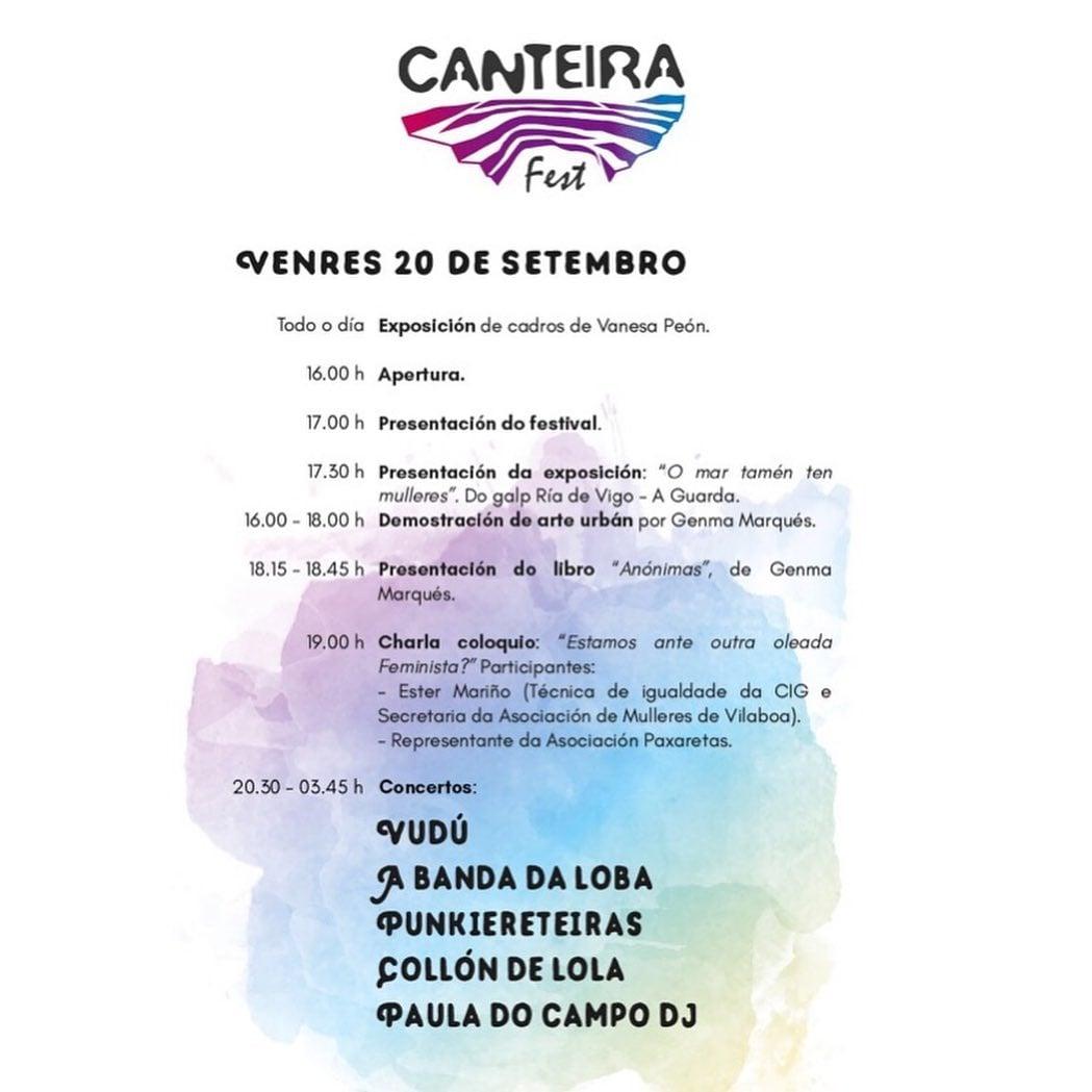 Horarios venres! ♀️🎵#festival #festivalgz #Musica #galiza #festivais #feminismo #gz