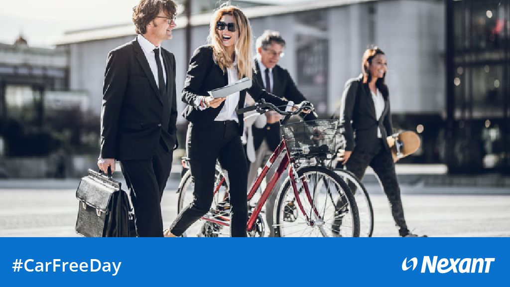 Sunday Sept. 22 is #CarFreeDay. Reimagine a world with less cars -- and opt for #masstransit #cycling and #walking.