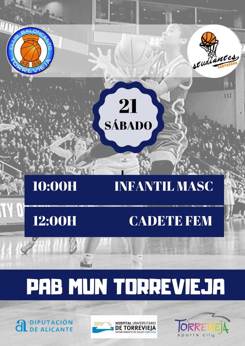 📢 Amistosos Pretemporada ‼️🏀 Nuestros Infantil 0️⃣7️⃣ y Cadete B 0️⃣5️⃣ viajan hasta Torrevieja. @TorreviejaCBGO ESTU ‼️🏀#Pretemporada #Baloncesto#Cartagena #Basket #deporte #Torrevieja