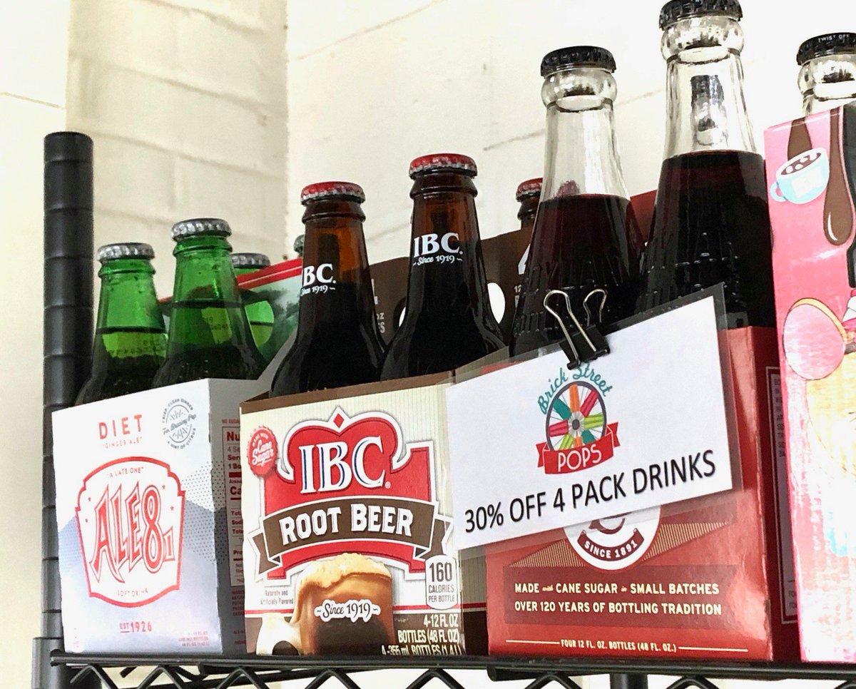 Hosting a party? We have four-packs of our most popular vintage glass-bottle drinks! Pick some up today!#BrickStreetPops #vintage #glassbottles #throwback #tbt #softdrinks