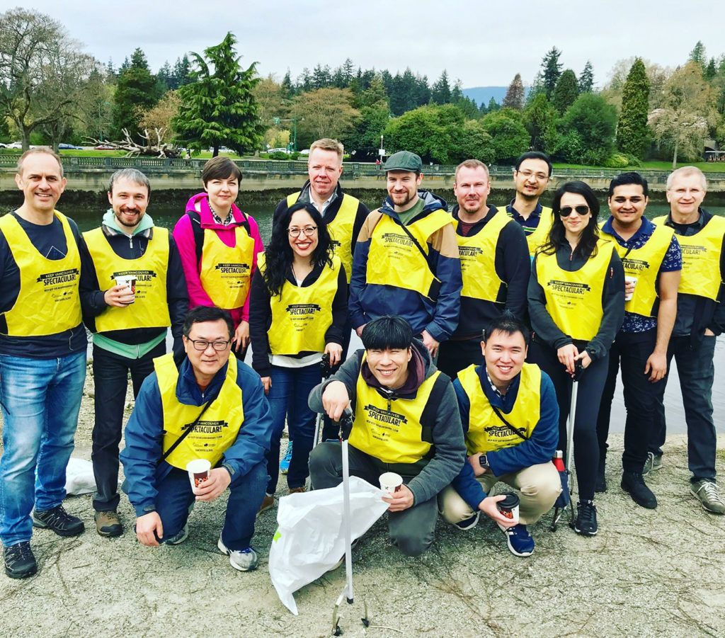 Today, our @Wirefire team is getting together to participate in the #ShorelineCleanup along Stanley Park, Vancouver. Everyone needs to do their part to make a contribution to a brighter and cleaner future. Here's a #throwback to our last clean up! #volunteerdays #givingback