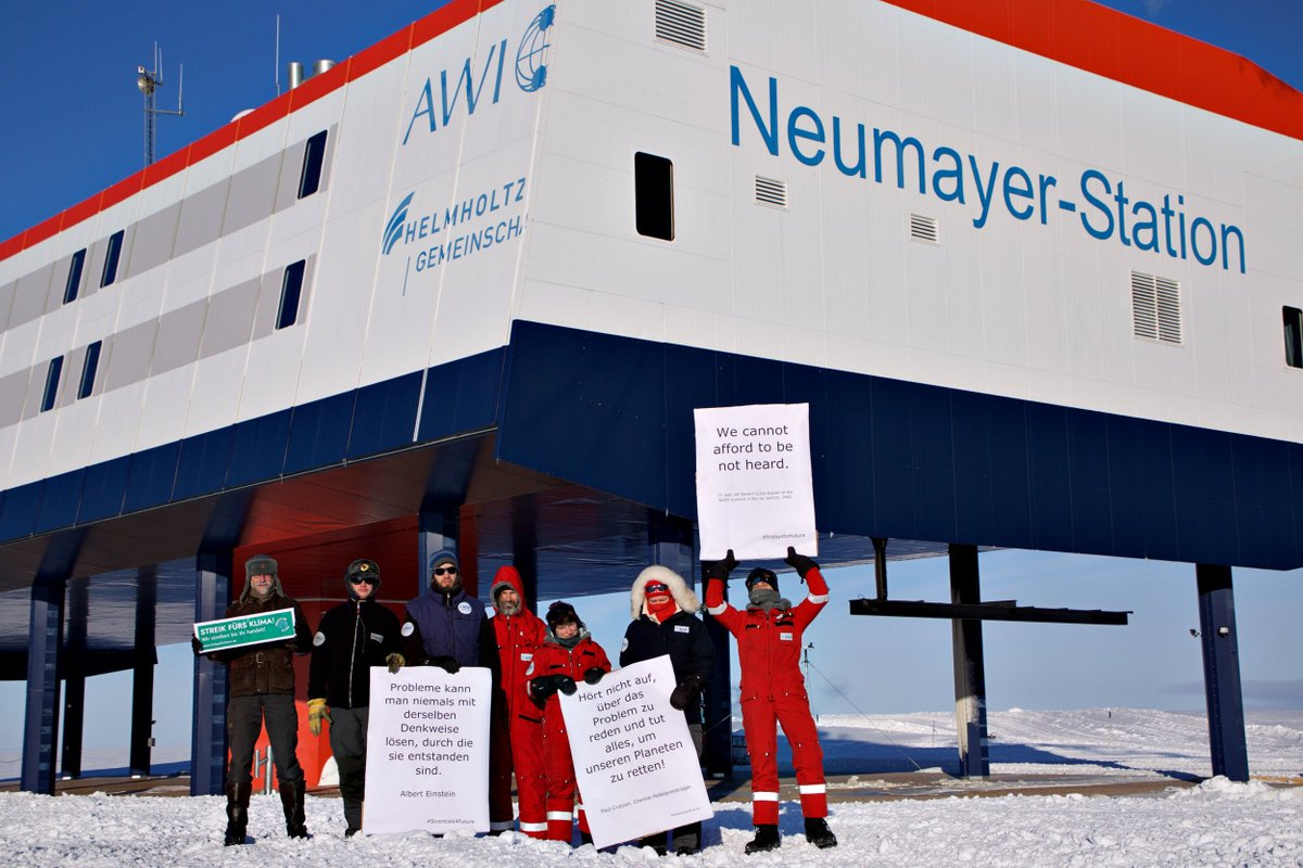There was even a #climatestike at our @AWI_de #Neumayer station in #Antarctica ! #AWIs4Future  #AlleFuersKlima #NoMorePillepalle #Klimastreik @FridayForFuture @sciforfuture @researchstrejk @ParentsFuture<br>http://pic.twitter.com/NkuDG0nQPC