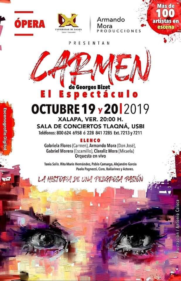 """El espectáculo de Georges Bizet """"CARMEN"""". Este 19 y 20 de octubre, 20:00 horas.⬇️Información detallada en la imagen ⬇️#Xalapa #Cultura #Arte #Aventura #VisitaXalapa #VisitaMéxico #TravesíasdeCafé #ConocedeXalapaCon #Turismo, #FloreceXalapa 🌺"""