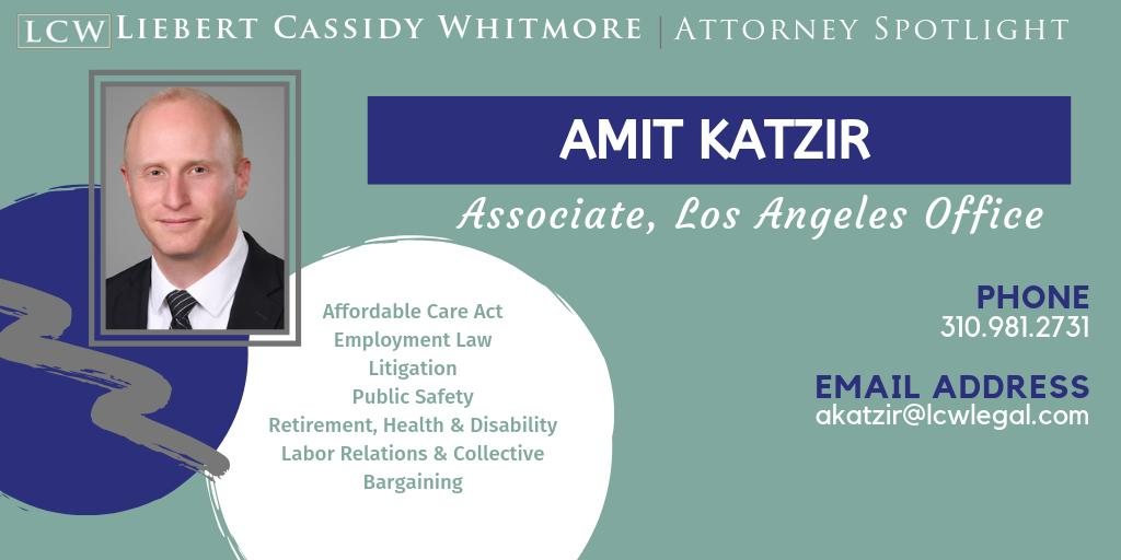 Meet Amit Katzir, #Associate in our #LA office. A passionate #world #traveler (60 countries and counting), Amit puts the same amount of #passion into his practice of labor and employment law on behalf of public agency and nonprofit clients.  To learn more: https://buff.ly/2OhuBK2