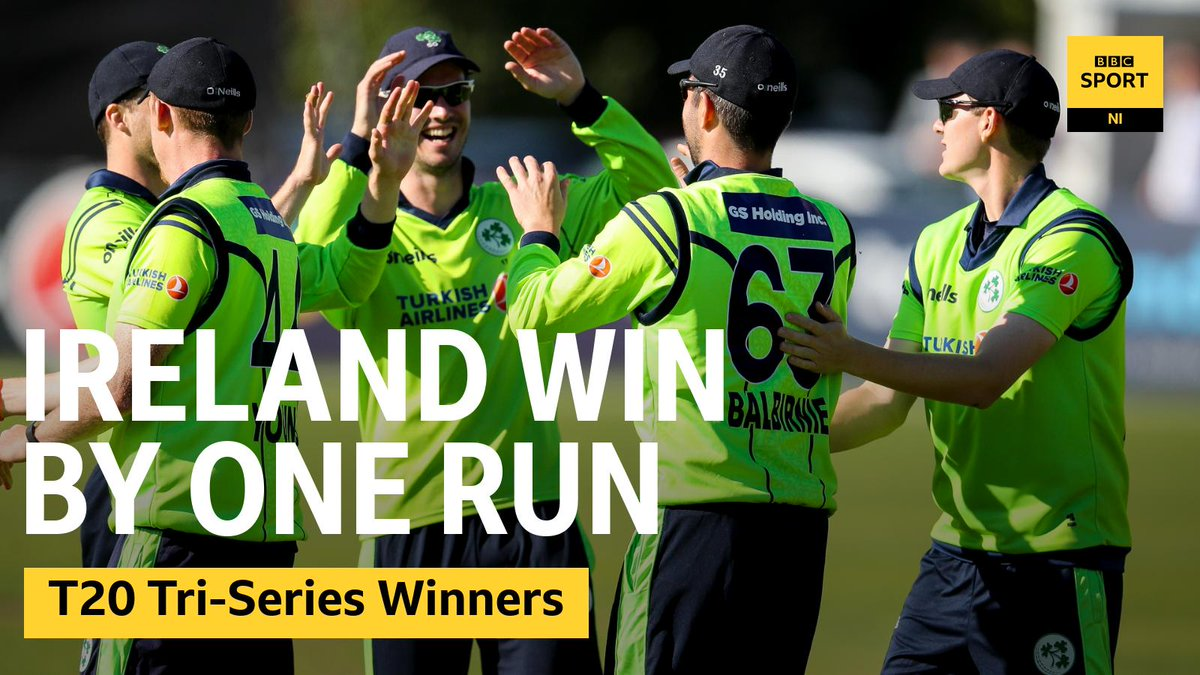 🏏@Irelandcricket clinched the T20 Tri-Series after a dramatic single-run victory over @CricketScotland in DublinRead the report 👀➡️https://bbc.in/2kwFVWu#bbccricket #t20 #t20cricket