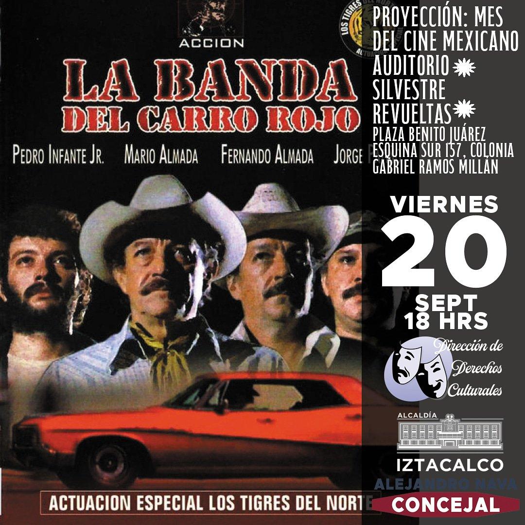 #Hoy a las 18:00 hrs toca #LaBandaDelCarroRojo con #LosTigresDelNorte en el #Auditorio #SilvestreRevueltas a un costado de la #AlcaldíaIztacalco en #CiudadDeMéxico #CDMX.#cine #arte #CineMexicano #Ambulante #Función #Cinema #Cinefilos #Cultura #Difusión #RamosMillán