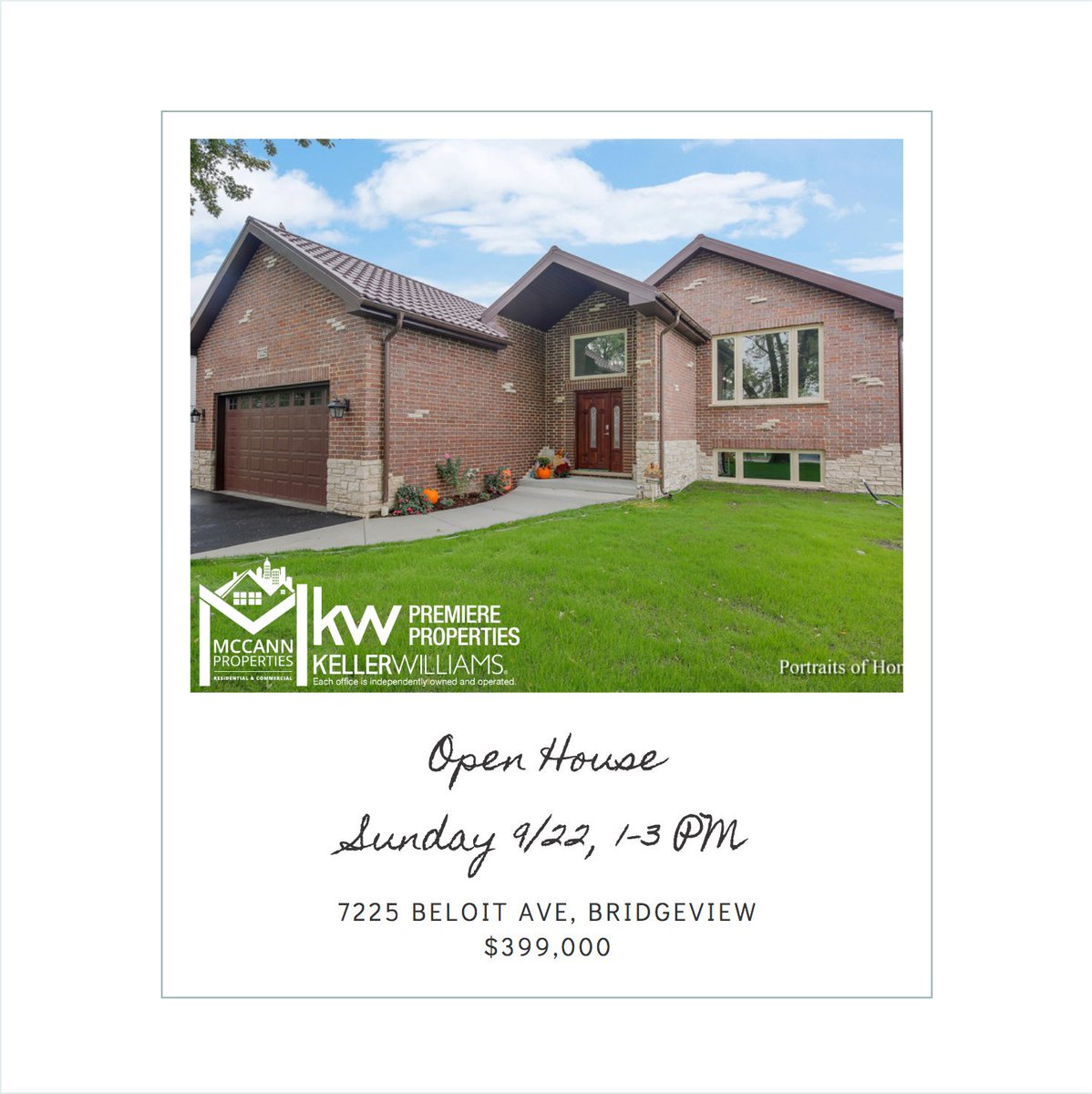 Open House, price adjusted! Don't miss this Bridgeview Beauty this Sunday 1-3pm.More info here: http://bit.ly/7225Beloit   #openhouse #newbuild #newconstruction #mccannproperties #kellerwilliamspremiereproperties #sundayfunday #chicago #forsale #justreduced