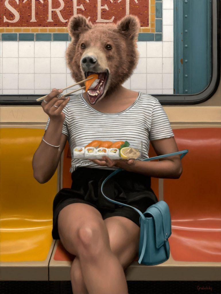 Matthew Grabelsky, 'Bear Necessities' (2019) 👉https://bit.ly/2OXuq8W #arte #pintura