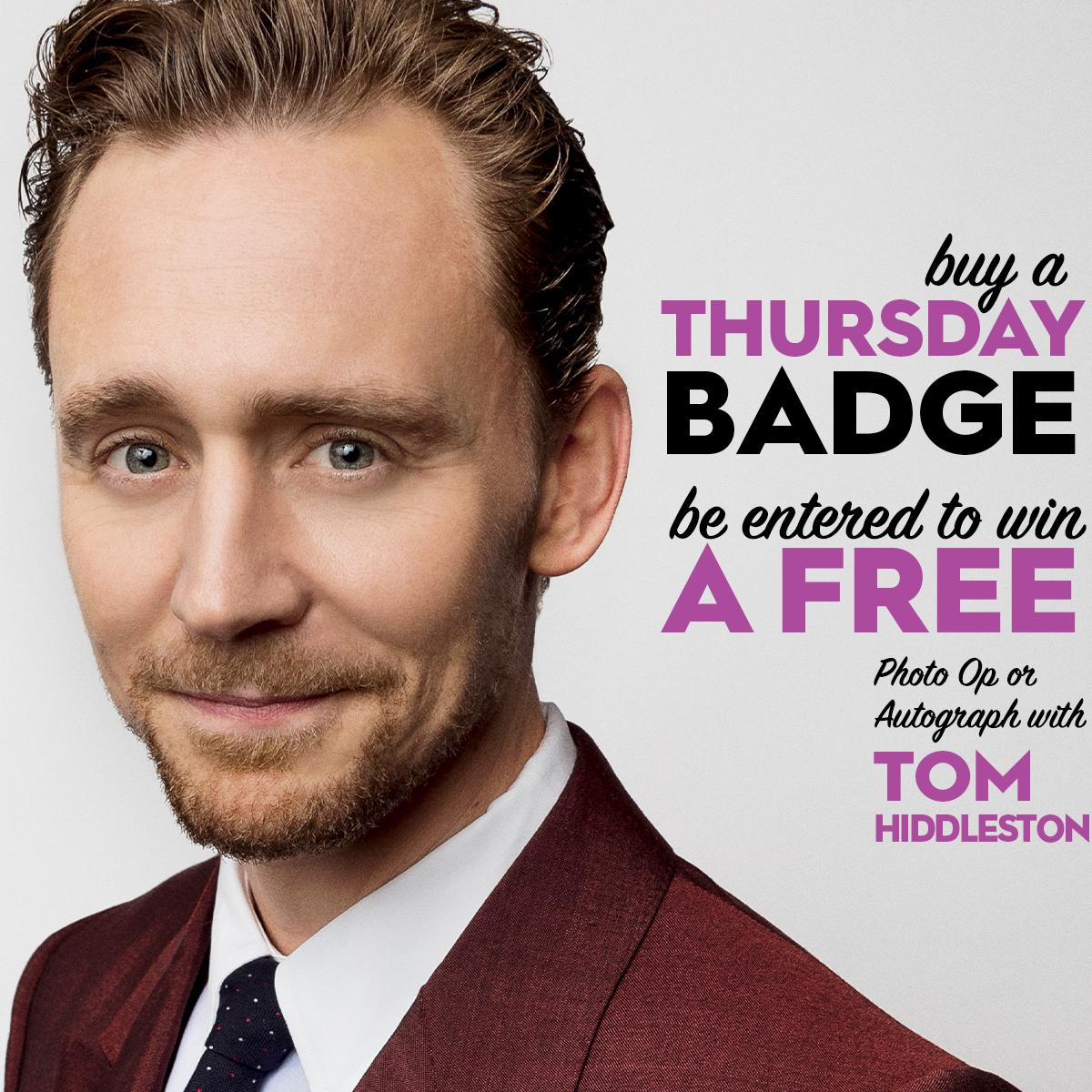 Buy a Thursday badge to NYCC 2019 before Mon, Sept 30 and be entered in to win a FREE Photo Op or Autograph with either Tom Hiddleston or Paul Rudd- your choice! Buy now:  http:// NYCC19.com/BuyBadges     <br>http://pic.twitter.com/Hbw3crXutN
