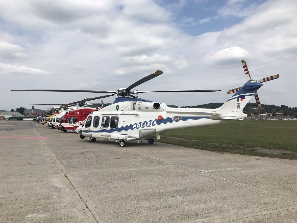 #AW139's as far as the eye can see, as @LDO_Helicopters marks the delivery of the 1,000th machine to Italy's Guardia di Finanza.