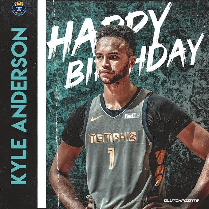 Happy birthday Kyle Anderson!