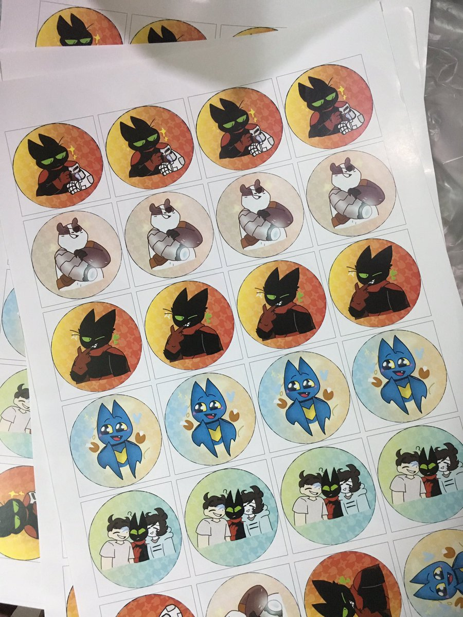 There is it, all the stickers I work with @pxstelhxppy  Still dunno why I made 500 of them lol #maomao #maomaoheroesofpureheart