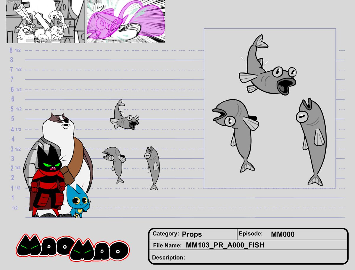 As the prop designer on #maomaoheroesofpureheart i had to design all the food in this world.  Here are a few samples from #maomao #cartoonnetwork #animation #prop #design