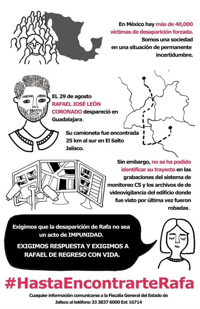 RAFAEL JOSÉ LEÓN CORONADO, SE ENCUENTRA DESAPARECIDO EN #JALISCO ! NADIE DA RESPUESTAS! NO VAMOS A DESCANSAR, HASTA QUE RAFA ESTÉ DE REGRESO@lopezobrador_ @EnriqueAlfaroR #HastaEncontrarteRafa@daniellemx_ @NTelevisa_com @karlaiberia @ClaudioOchoaH@Carlos1Hurtado @nacholozano