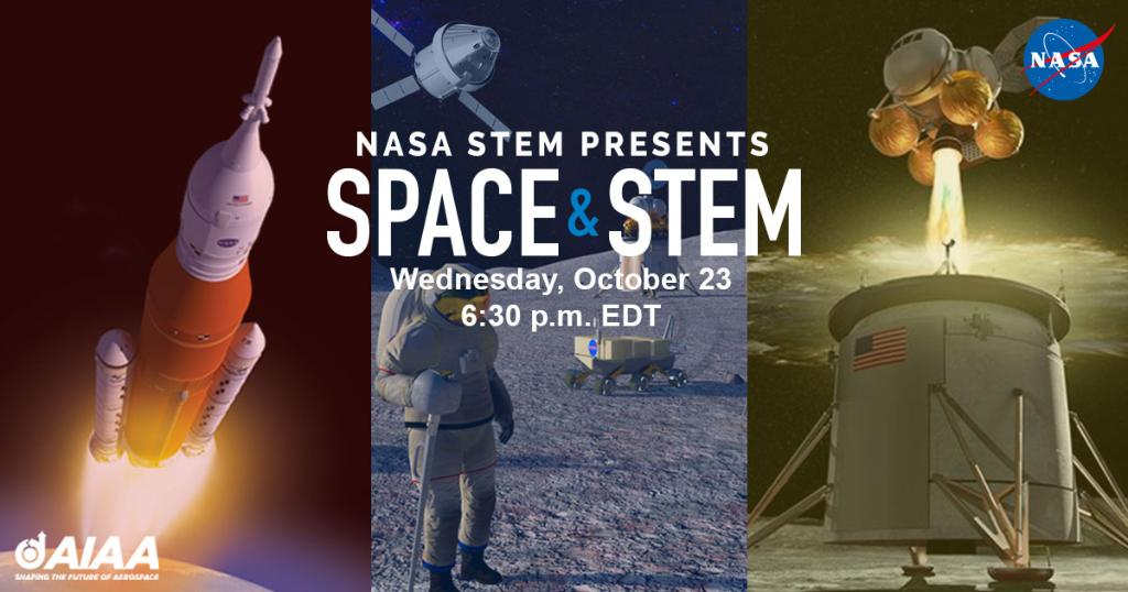 NASA STEM Presents Space & STEM: Where Do You Fit In? LIVE from the International Astronautical Congress in Washington, D.C. Tune in to NASA TV 📺 on Oct. 23 at 6:30 p.m. EDT to find your place in the Artemis 🌔 missions!