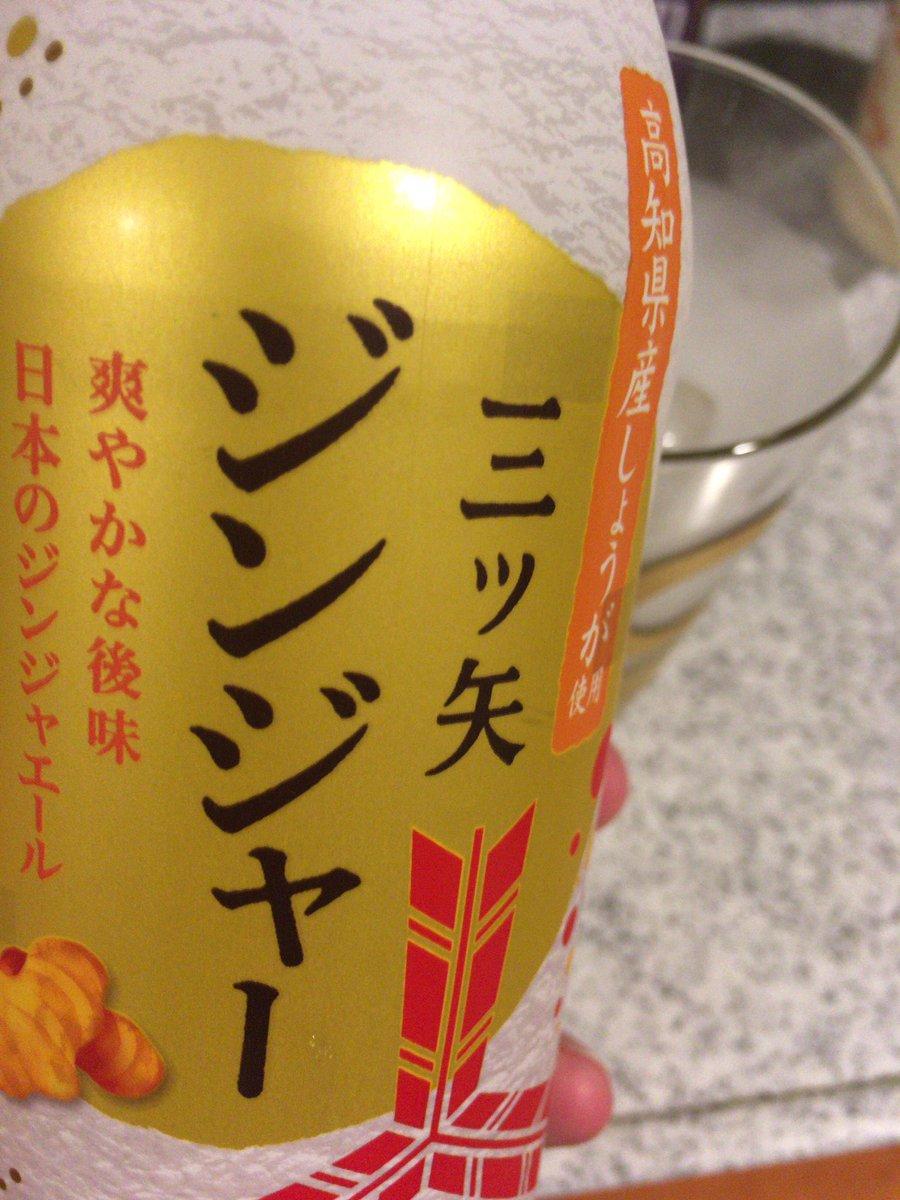 みんな、三ツ矢の新商品は高知県産しょうが使用らしいからたくさん買ってくれ!!!  コリンズグラスなんて洒落たものはないから、ビアグラスにブランデー垂らしてルージュバック風にして飲みます🥰  華金だしええやろ🥺🥺