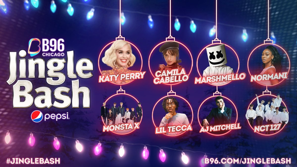 CHICAGO! I'm going to make it a Cozy Little Christmas with you (and @Camila_Cabello, @marshmellomusic, @Normani, @OfficialMonstaX, @liltecca, @ajmitchell, and @NCTsmtown_127) when I see you at the @B96Chicago #JingleBash on December 7! Get your  here:  http://www. b96.com/JingleBash     <br>http://pic.twitter.com/Qc5FjR28ti