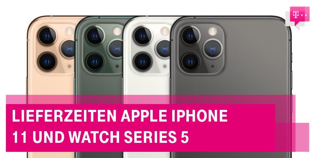 Social Media Post: Heute kommen die ersten #Apple #WatchSeries5 ⌚️ und #iPhone11...
