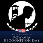 Today is National POW/ MIA Recognition Day in which we honor the American heroes who endured unspeakable treatment as prisoners of war or who remain missing in action. God bless you & your family for your sacrifice. #POWMIA #txlege