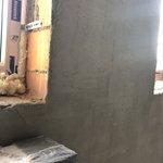 15.08.2019 - начались работы по выравниванию внутренних фасадных стен квартир в жилом комплексе у метро Черная речка (2й этап строительства)