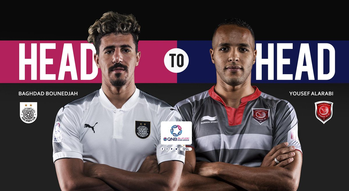 Only two players in the last 10 years of the Qatar Stars League have a goal-scoring ratio of more than 1 goal per game:   Baghdad Bounedjah for Al-Sadd: • 61 games, 86 goals  1.41 /game   Youssef El-Arabi for Al-Duhail: • 60 games, 76 goals  1.27 /game <br>http://pic.twitter.com/wqhz0hauIB