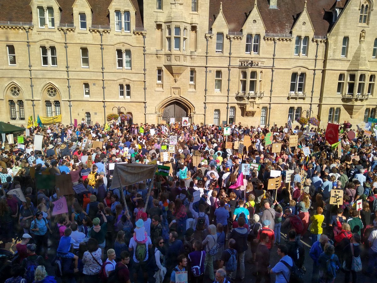 I've returned from the Oxford #ClimateStrike rally emboldened and delighted, inspired both by the young people who lead and organise the strike, and by the older people who now stand in solidarity with them.