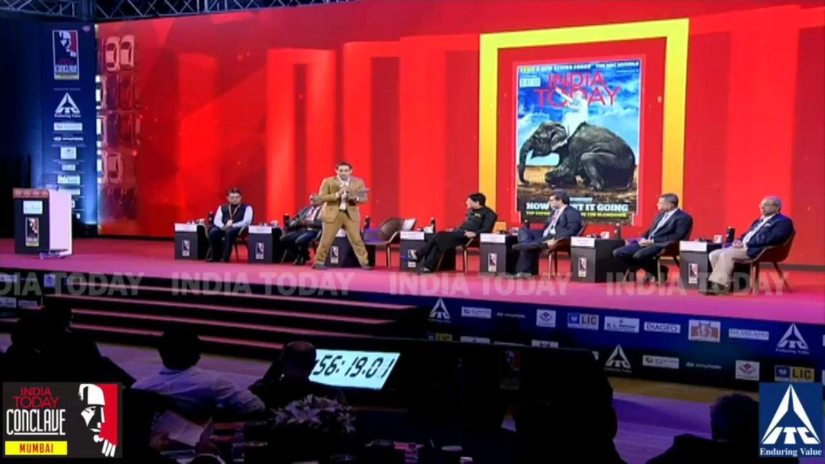 This govt neither lives in denial, nor does it panic: @PiyushGoyal  #ConclaveMumbai19 Full coverage: http://bit.ly/MumbaiConclave19…@rahulkanwal