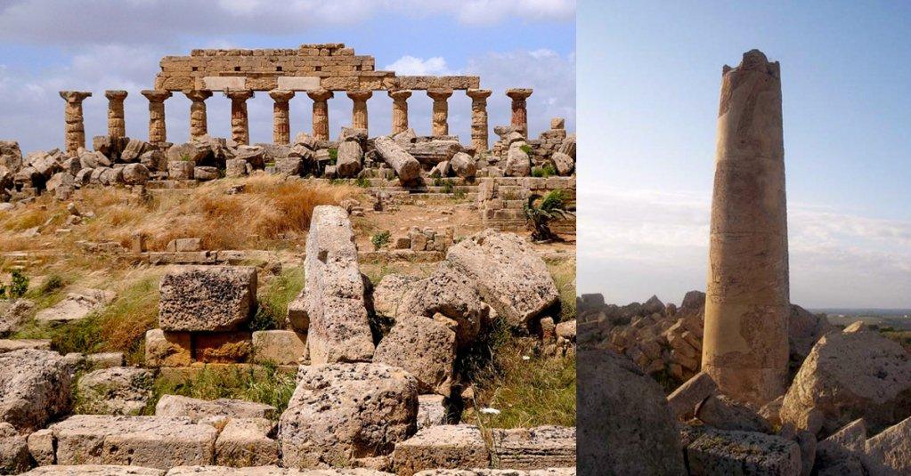 #blogsicilia Lu fusu di la vecchia è una colonna facente parte dei resti del tempio di Selinunte.