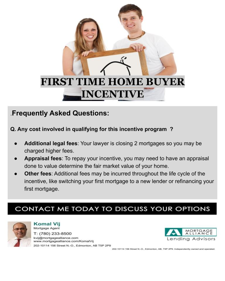 First time home buyer incentive 2019