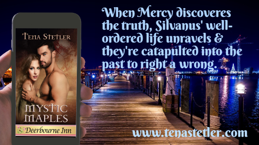 """#Fridayreads MYSTIC MAPLES - She raised her arms out from her sides and turned her face to the starlit sky letting the magic surge through her.  Suddenly a male voice broke through her revelry. """"What are you doing here?"""" #wrpbks #PNR #TIMETRAVEL #Romance  https:// buff.ly/2KMFzqZ    <br>http://pic.twitter.com/ndxDte0FjX"""