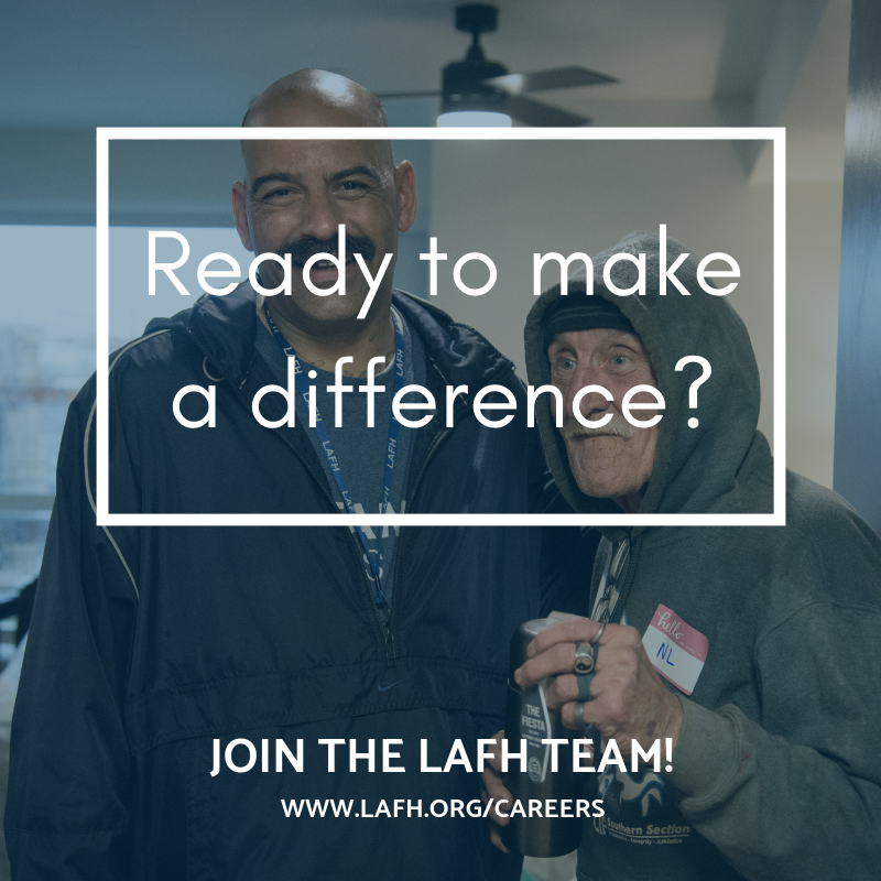 Make a difference every day in the lives of our most vulnerable neighbors. Join our team of passionate, innovative staff! From Housing Navigator, to Senior Analyst, we could have a position for you! See all available positions at http://lafh.org/careers #nowhiring