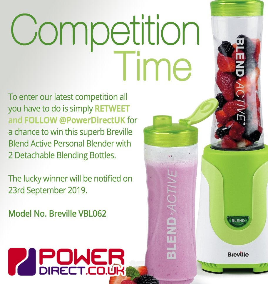 #Free to Enter @PowerDirectUK #Competition #Giveaway... Simply #RT and #Follow for a chance to #Win a Breville Blend Active Personal Blender… #FridayMotivation #FridayFeeling #FreebieFriday<br>http://pic.twitter.com/3NiqohzWZO