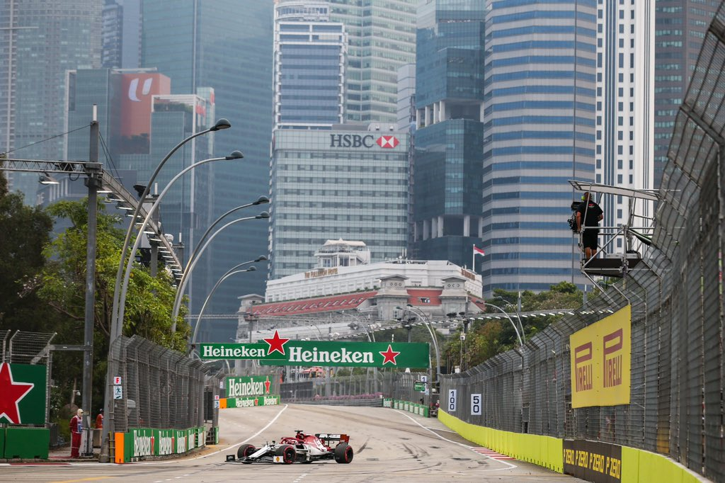 🇸🇬 #FP2 #SingaporeGP  Position: 16th Best time: 1:41.232 Laps: 28  #Kimi7 #AlfaRomeoRacing #F1