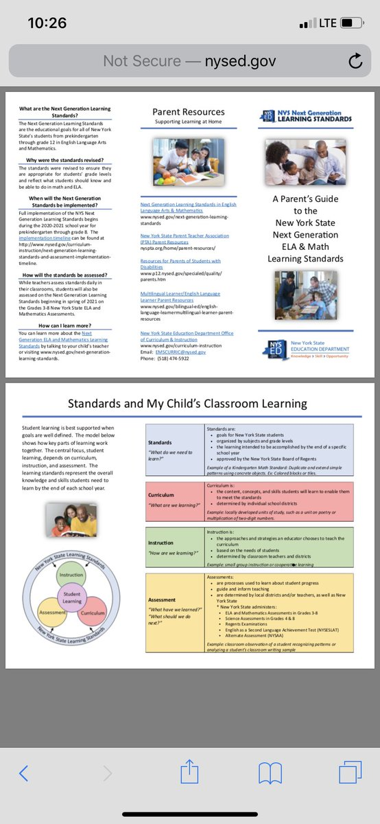 Check out the new Next Generation Standards for parents it is now posted on NYSED #elanetwork