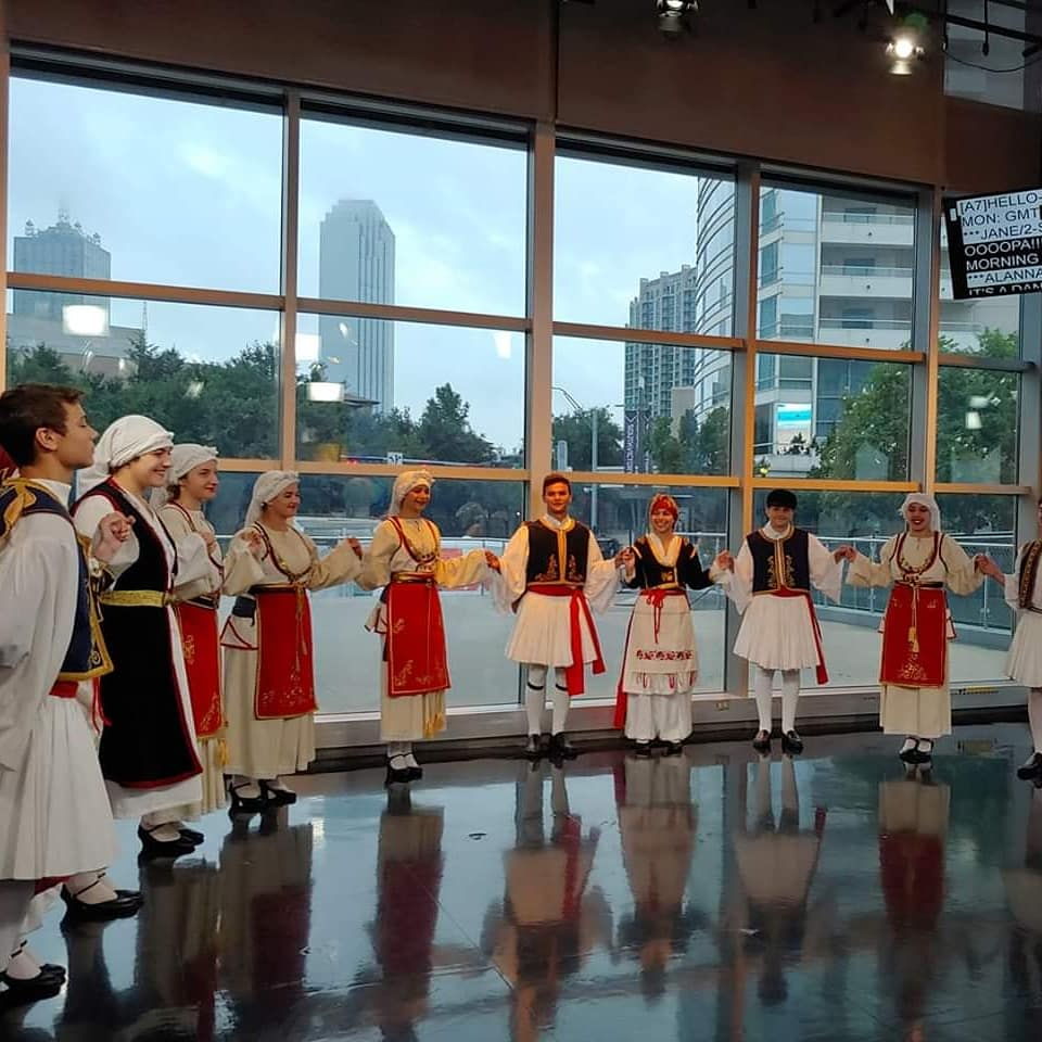 Dont forget to watch our HTHD dancers today on GMT from 9a-10a!!! Opa!! #goodmorningtexas #greekfestivalofdallas #opa  @ WFAA Studios @ Victory Park