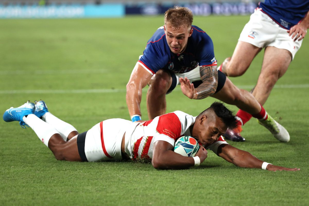 test Twitter Media - Japan's offloading game the key to unlocking Russia #RWC2019 #JPNvRUS   Read more: https://t.co/wBwJTxIZPs https://t.co/fGvtmbqe5E