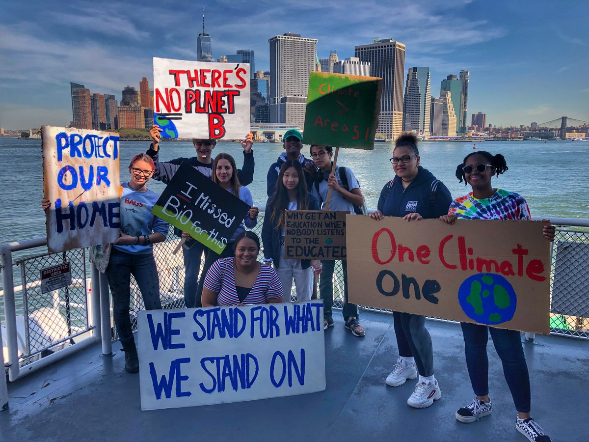 #ClimateStrike #ClimateAction @NYCSchools @BillionOyster @Gov_Island