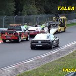 Image for the Tweet beginning: Watch a Porsche Taycan lapping