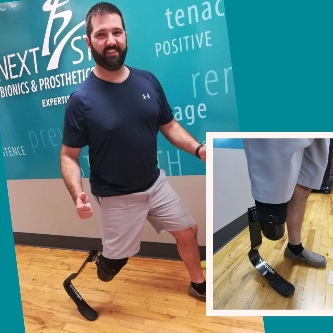Ryan is a patient in our Newton office who recently received a running foot from Next Step with the help of the Wiggle Your Toes Foundation. We can't wait to see how fast he'll run now!🏃‍♂️🏃‍♂️🏃‍♂️..#prosthetics #running #prosthesis #leg #foot #run #athletes #boston #newton