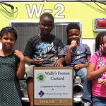 #FBF! A few weeks ago, our students were treated to an ice cream social by @WallysFrozenCustard!