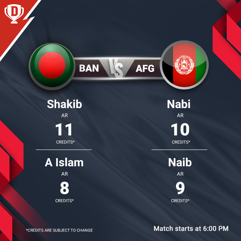 Before facing each other in the finals, Bangladesh & Afghanistan lock horns in the last league game tonight. Get your #Dream11 ready for #BANvAFG here - http://d11.co.in/TriSeries