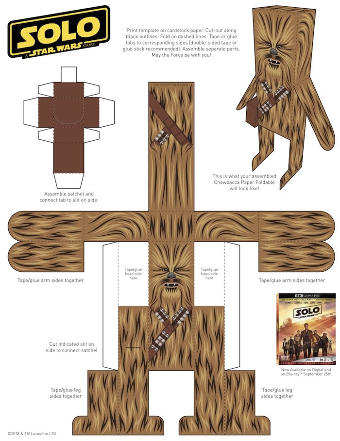 Easy Home Craft for Kids & Grown-ups! #Chewbacca Paper #Craft To Celebrate #SOLO: A Star Wars Story Blu-ray #HeartThis #StarWars #Crafts #Homeschooling #Crafting #Chewie http://bit.ly/2IkK2MS