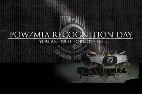 """#POWMIA #POWMIARecognitionDay #Respect #Bravery #Honor #Sacrifice Please take a moment out of your day today and simply say, """"You Are Not Forgotten"""" to honor and in  remembrance of America's prisoners of war, those who are still missing in action and their families."""
